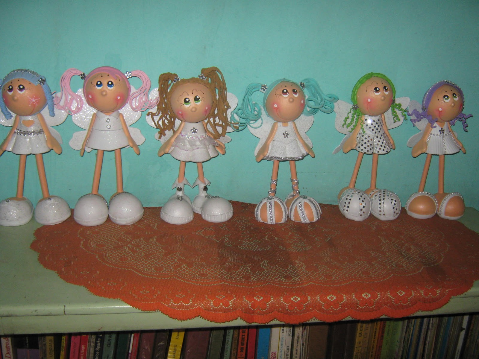 les presento a mi colección de angelitas fofuchasson un total de