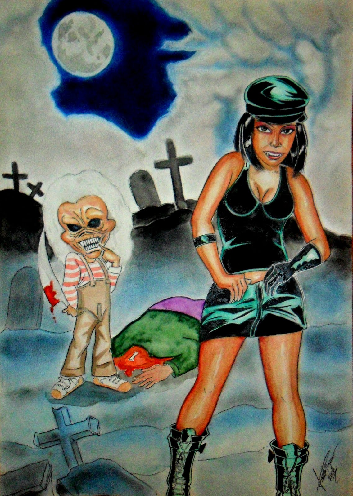 Jack Boneco Assassino Complete guilda de desenhistas: o mascote da banda iron maiden, eddie na