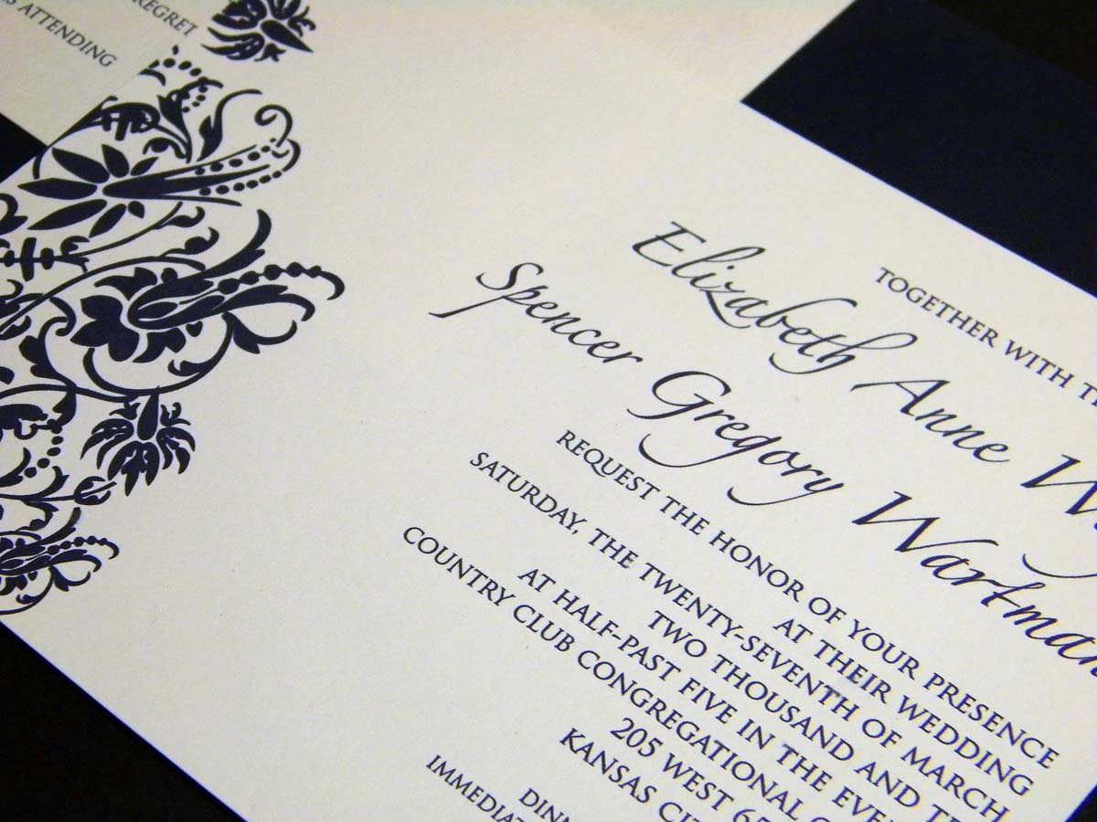 liz wanted them to be simple modern yet classic the main invitation rsvp post card