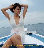 Farah Fauzan Quinn on the boat
