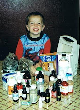Andrew with his medicine...pre-Feingold