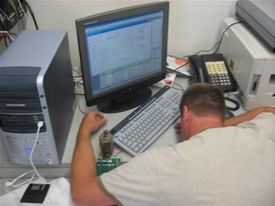 Bill hard at work.