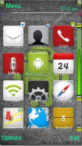 Nokia 5800 Android theme