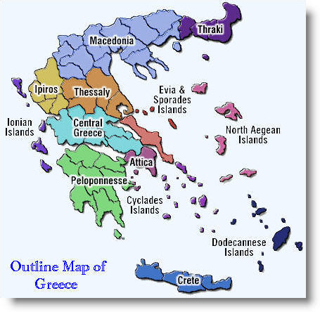 Greece Saronic Islands Map