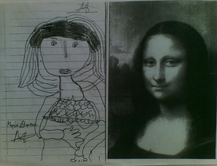 2 παιδια συναντουν την Mona Lisa Da  Vinci [ Jocoda ] [ 1 ]