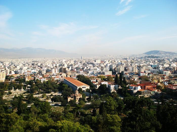 μερικη αποψη της Αθηνας απο την Ακροπολη [ προς τα Βορεια ]