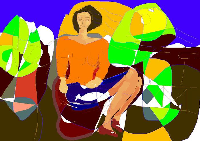 Αρχαι'κο [ η Πηνελοπη τη μερα που  θα αρραβωνιασθει σε λιγο τον Οδυσσεα ]