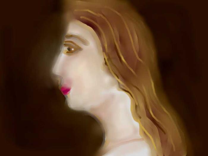 Πορτρετο της Αρετουσας που αγαπουσε ο Ερωτοκριτος [ απο  '' Ερωτοκριτο '' του Βιτσεντζου Κορναρου ]