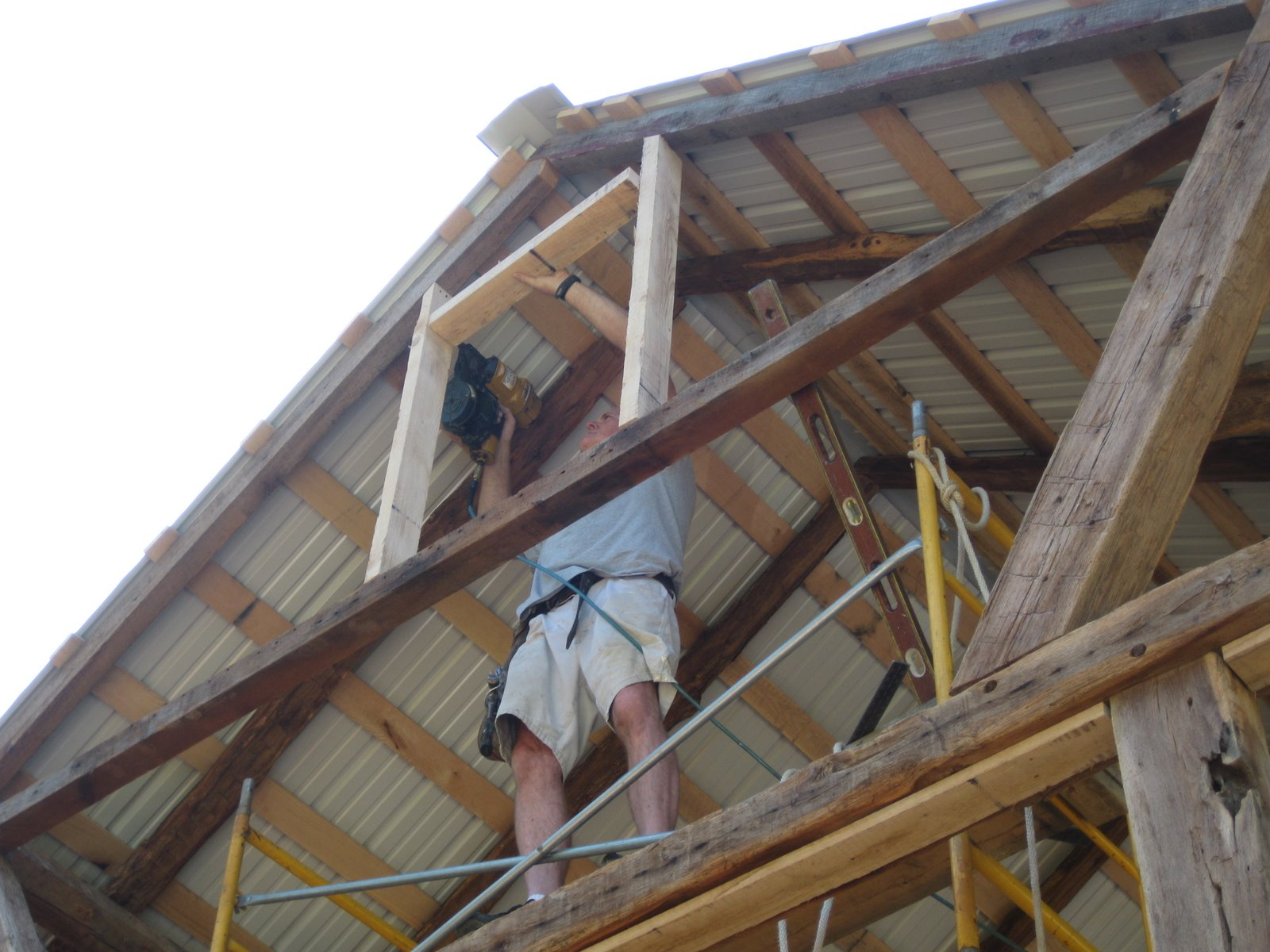 Here I am test fitting the gable vent into the opening.  sc 1 st  The Beaumont Barn & The Beaumont Barn: Framing the Gable Vents