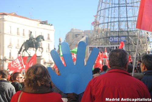 [FOTOS] Huelga y concentración de los trabajadores de las instalaciones deportivas municipales de Madrid 5