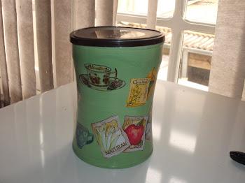 lata para chá