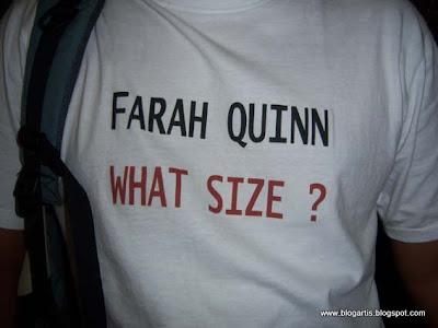 berapa ukuran payudara farah quinn?