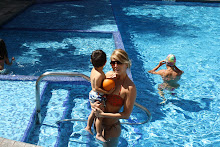 At pool with Mommy..the day he LOVED it!