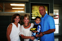 Mateo with his godparents; Jason & Laura Park