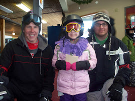 Annika and her ski instructors-Mr P and Mr Joe