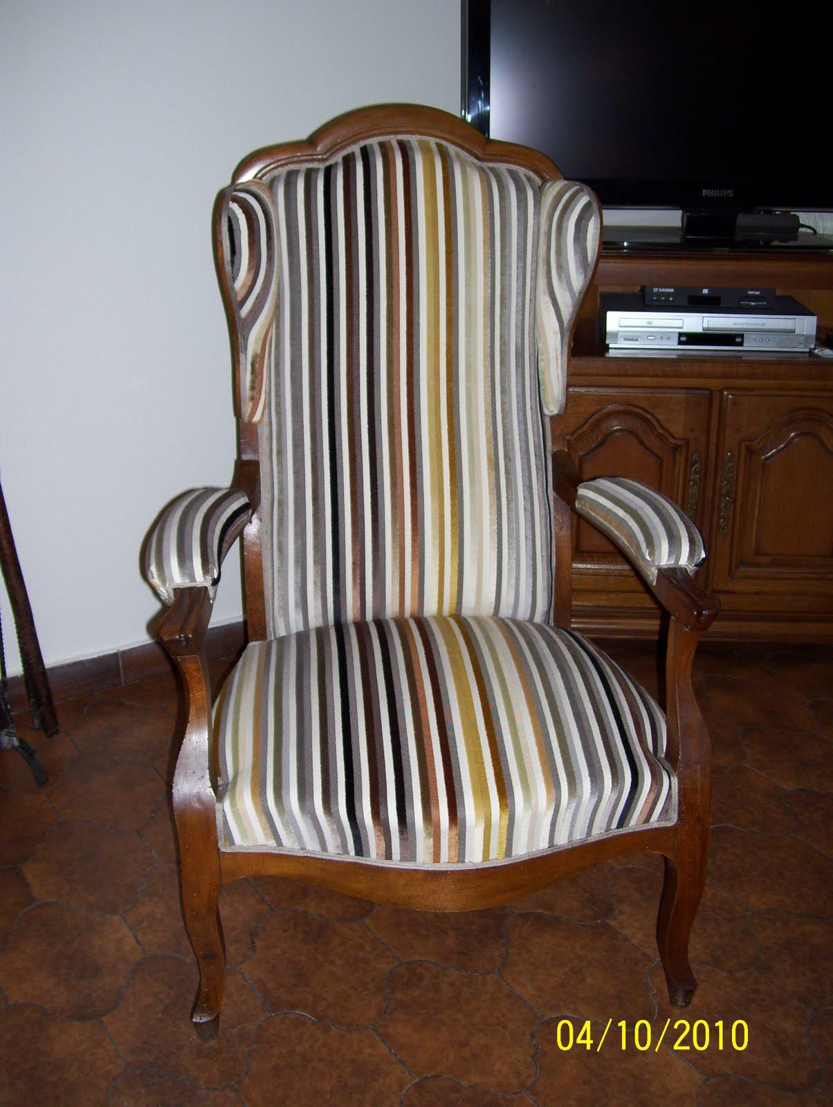 atelier ana s deco tapissier decorateur label artisan d 39 art fauteuil voltaire avant apr s. Black Bedroom Furniture Sets. Home Design Ideas