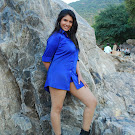 Sangavi in Blue Shirt Spicy Photo Set