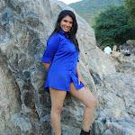 Sangavi in Blue Shirt Spicy Photo Set