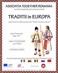 """poster1 Câmpina, gazda proiectului cultural """"Tradiţii în Europa"""""""