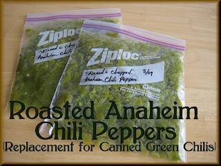 ... Seasonings: Roasted Chili Peppers (replacement for canned Chili's