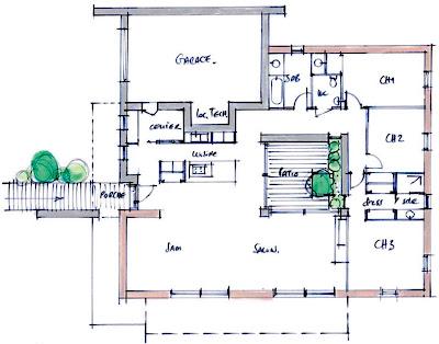 Innovation maison voiture z ro nergie et z ro co2 - Plan de maison avec patio central ...
