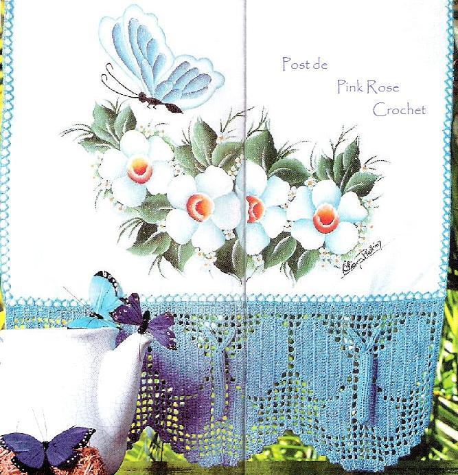 [Barrado+Croche+Borboleta-+Crochet+Butterfly+Edge+-+Pink+Rose.JPG]