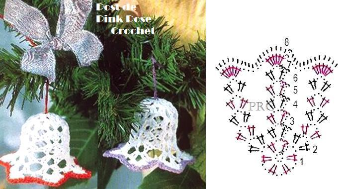 Рождественский колокольчик вязание крючком 30