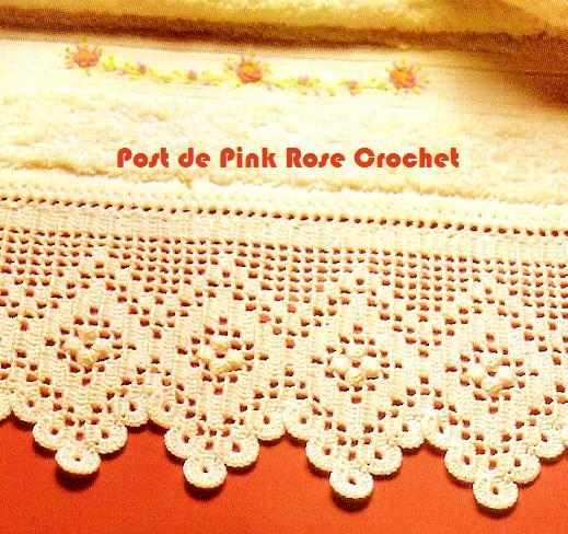 PINK ROSE CROCHET : Barrado de Crochê com Desenho de Losangos