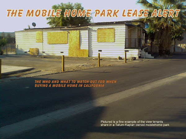THE MOBILE HOME PARK LEASE ALERT