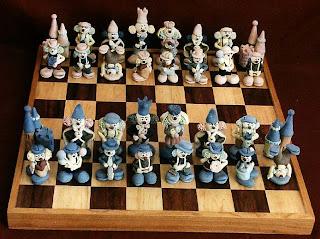 Jeu d'échecs avec les clowns