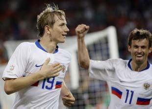 La Russie de Pavlyoutchenko et Semak a validé son ticket pour le dernier carré. (Reuters)