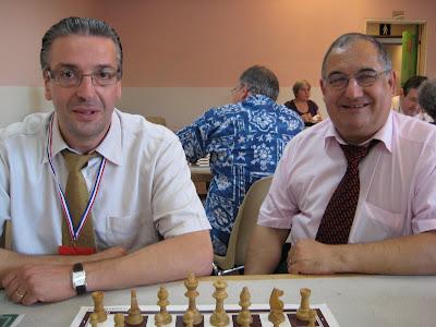Philippe Berthier (le trésorier de la Ligue d'IDF) et André Clauzel  (son Président) - © Chess & Strategy