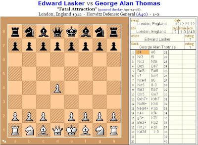 cliquez ici pour rejouer la partie d'échecs d'Edward Lasker