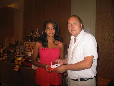 Jovanka Garma et Jean-Claude Moingt au championnat de France d'échecs 2008 à Pau © Chess & Strategy