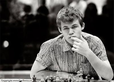 Le génial joueur norvégien de 17 ans Magnus Carlsen © Fred Lucas