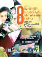 L'affiche des 8èmes rencontres d'échecs au Cap d'Agde