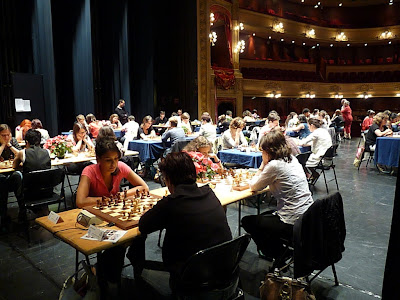 Vue générale du tournoi à l'Opéra de Rennes