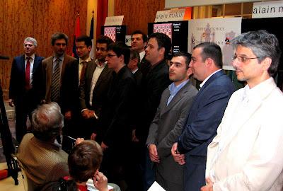 Les joueurs et officiels avant le lancement du tournoi © Chess & Strategy