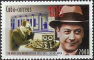 Capablanca en timbre - collection Alain Delobel