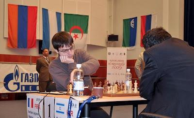 Maxime Vachier-Lagrave face à Boris Gelfand © Site Officiel