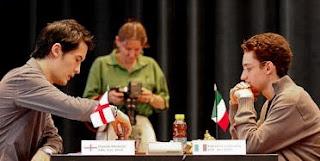 Echecs à Bienne : Fabiano Caruana face à David Howell