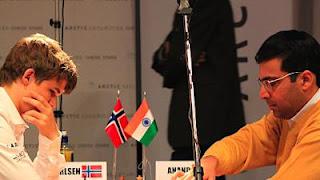 Echecs en Norvège : Carlsen et Anand - photo Roar Halten/NRK