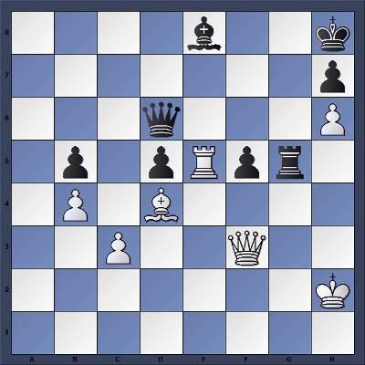 Echecs & Tactique : Les Blancs gagnent en cinq coups - Niveau Moyen