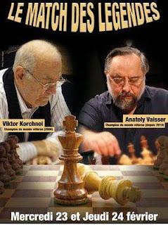 Le Match des Légendes des échecs entre Korchnoi et Vaisser