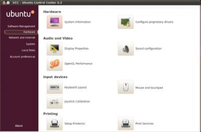Ubuntu Control Center 0.3