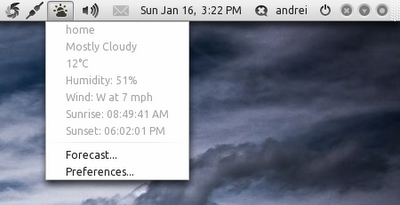 Ubuntu Weather Tool: Weather Indicator