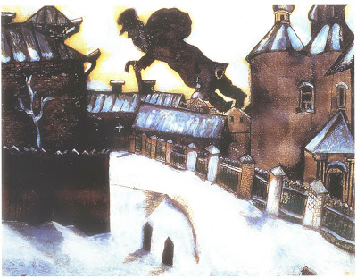 Over Vitebsk, Painting by Marc Chagall
