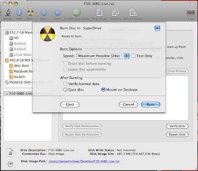 mac linux disk utility fedora