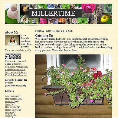 miller time, garden blog
