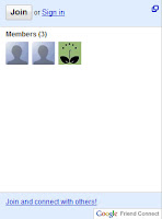 Google Friend Connect member list preview my garden blog